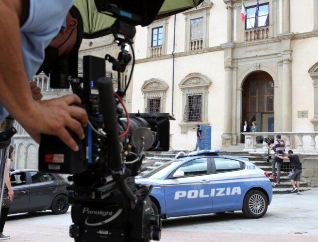Fosca Innocenti_serie tv Mediaset prodotta da Banijay Studios Italy_Commissariato - Piazza Grande - Arezzo_foto di Cristina di Paolo Antonio (1)_